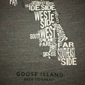 GOOSE ISLAND BEER COMPANY with MAP Size Large Tee